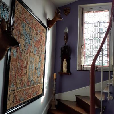 Escalier statue